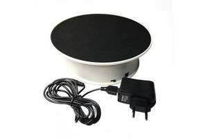 Поворотный столик для фотосъемки или демонстрации 3D Heonyirry C366, до 1.5 кг, 2 скорости, Черный (100118)