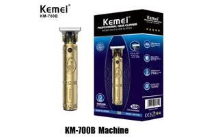Профессиональная беспроводная машинка для стрижки волос Kemei КМ-700B /Аккумуляторный мощный мужской триммер
