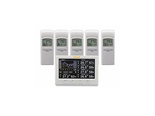Регистратор температуры и влажности WS-HP3001-8MZ с 5 выносными датчиками DWP MISOL (mdr_2405)- объявление о продаже  в Киеве
