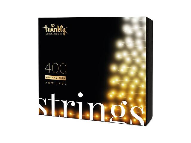 купить бу Smart LED Гірлянда Twinkly Strings AWW BT + WiFi кабель чорний (32 м, 400 ламп) в Херсоні