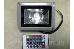Светодиодный линзованый прожектор RGB SL9-21L 10 Вт пульт в комплекте 220V IP65 Код.59774