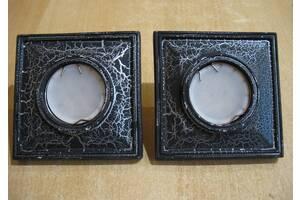 Светильники потолочные встраиваемые светодиодные квадратные черные (с LED лампами)
