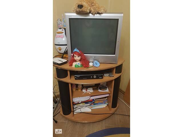 купить бу Телевізор з кінескопом SONY KV 21-BZ21M7 + тумба-підставка в Хмельницком