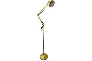 Торшер підлоговий LOFT-LUCIANO 6W E27 ТМ LUMANO срібло, золото