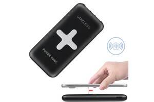 Универсальная мобильная батарея Power Bank с беспроводной зарядой QI Awei P98K 2 USB и 8000 мАч с индикатором и проре...