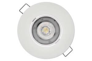 Встраиваемый поворотный светодидный светильник точечный EMOS ZD3121 5w, 3000K Белый