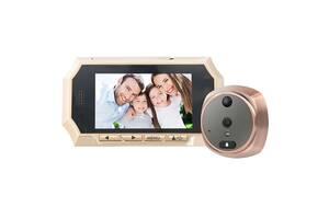 Видеоглазок с датчиком движения Kivos KR07 с видео/фото записью и подсветкой 8 Гб (100449)