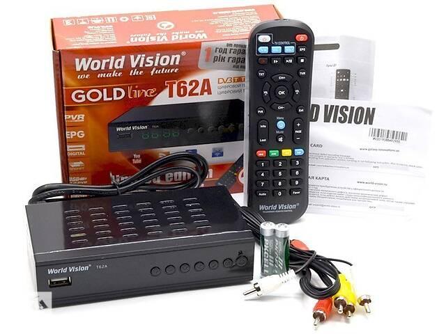 продам World Vision T62A-Цифровой DVB-T/T2 ресивер IPTV Wi-Fi,Антенна наружна бу в Полтаве