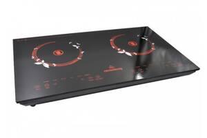 Инфракрасная двухкомфорочная плита Crownberg CB-1330 с сенсорным управлением 2000 Вт Черная (par_CB 1330)
