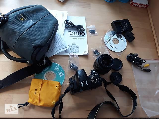 продам Зеркальный фотоаппарат Nikon D3100 kit 18-55 мм VR (со стабилизатором) бу в Києві