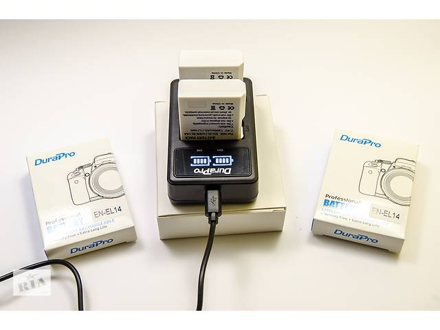 купить бу Аккумулятор батарея EN-EL14 Nikon D3100 D3200 D3300 D5100 D5200 D5300 в Кременчуці