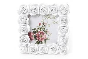 Фоторамка Sweet White Белые розы квадратная 10.5х10.5 см (psg_BD-493-512)
