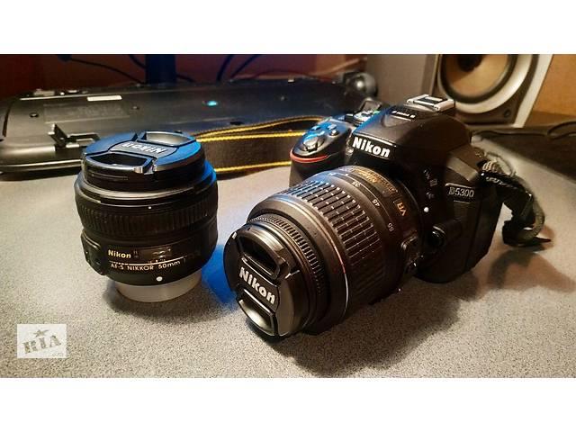 продам Зеркальный фотоапарат Nikon D5300 + 50mm AF-S F1/8 + 18-55mm AF-S VR (kit)  бу в Харькове