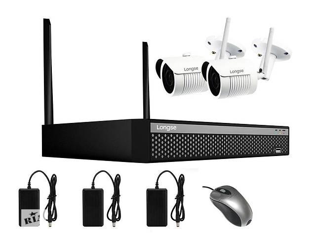 бу Бездротова система відеоспостереження на 2 камери Longse WIFI 3604-2Mp Kit 2, 300 метрів, 2 Мп, FullHD 1080P в Києві