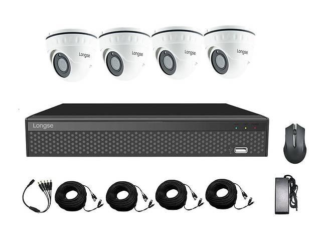 купить бу Готовый комплект видеонаблюдения на 4 камеры 5 Мп Longse XVR2004HD4P500, Quad HD в Харькове
