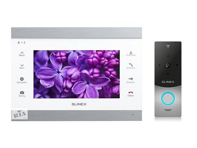 продам Комплект видеодомофона Slinex SL-07IP Silver White + Панель Slinex ML-20HD Silver Black бу в Киеве