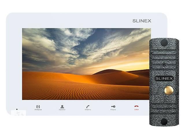 купить бу Комплект видеодомофона Slinex SM-07M White + Панель Slinex ML-16HR Black в Киеве