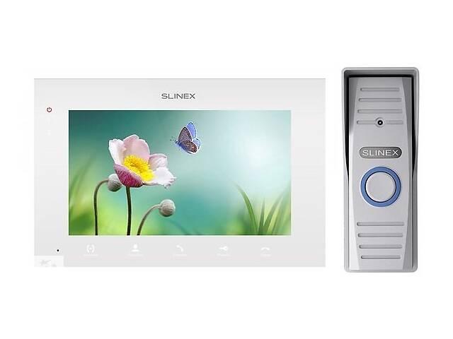 продам Комплект видеодомофона Slinex SQ-07MTHD White + Панель Slinex ML-15HD Grey бу в Киеве