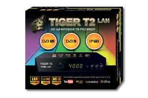 Т2 приставка - приймач, цифровий DVB-T2 ресівер Tiger T2 Iptv Lan SKL31-220896