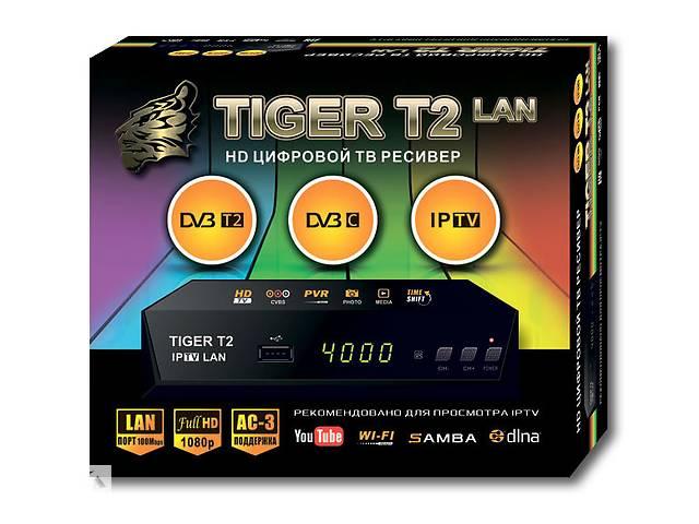 бу Т2 приставка - приемник цифровой DVB-T2 ресивер Tiger T2 Iptv Lan SKL31-220896 в Харькове