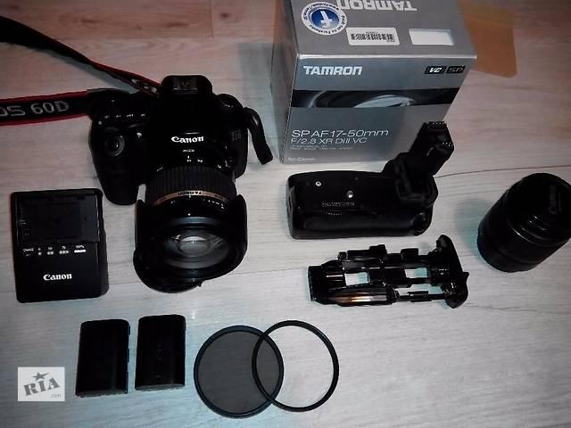 продам Canon 60d + kit 18-55 + бустер +батарея бу в Тернополе