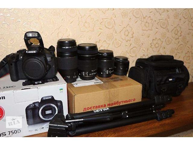 купить бу Canon 700D+4 обектива есть и 100-600-650-750d в Каменец-Подольском