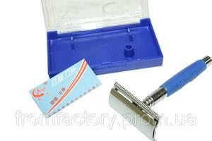 Станок для бритья металлический с резиновой ручкой JJ-(626)