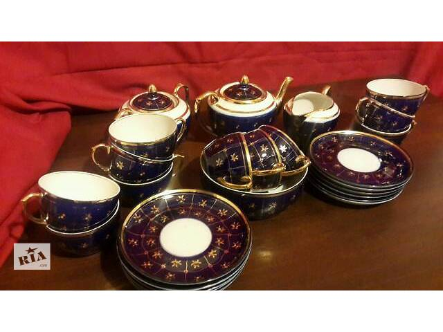 купить бу чайный сервиз на 12 персон кобальт в Киеве