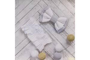 Бант на резинке универсальный серый