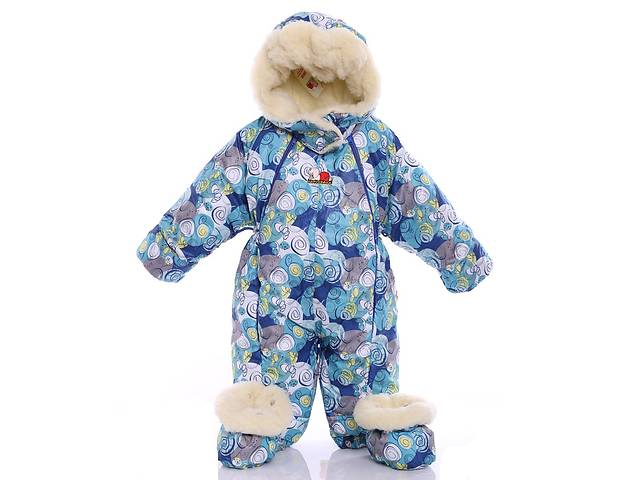 bde2f3a5ba19 Детский комбинезон трансформер для новорожденных зимний (синяя ...