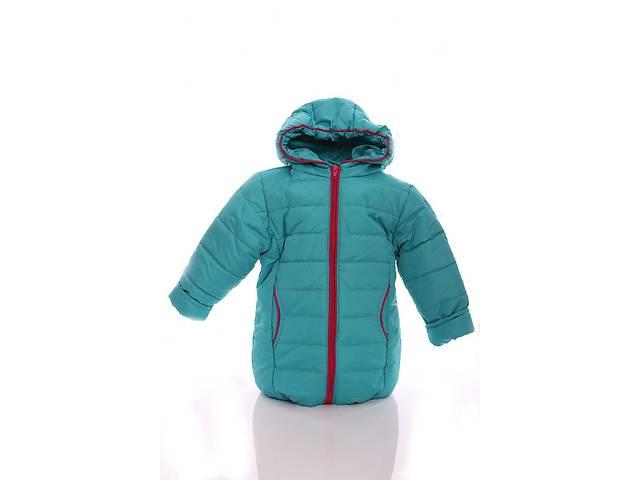купить бу Куртка Евро для девочки бирюзовый с малиновым в Львове
