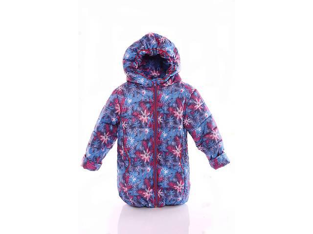 купить бу Куртка Евро для девочки синяя в снежинку в Львове