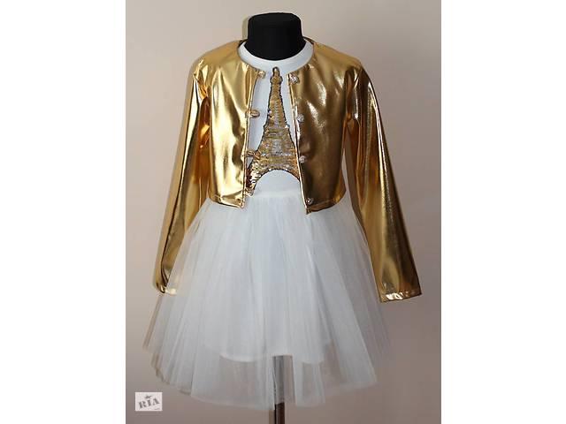 46bcfb1f43a Очень красивое платье двойка для девочки c болеро. Размеры 116