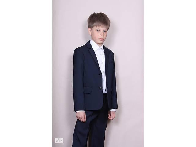 бу Скидки Школьный костюм двойка , брюки пиджак, размеры 122-146 тёмно-синий в Харькове