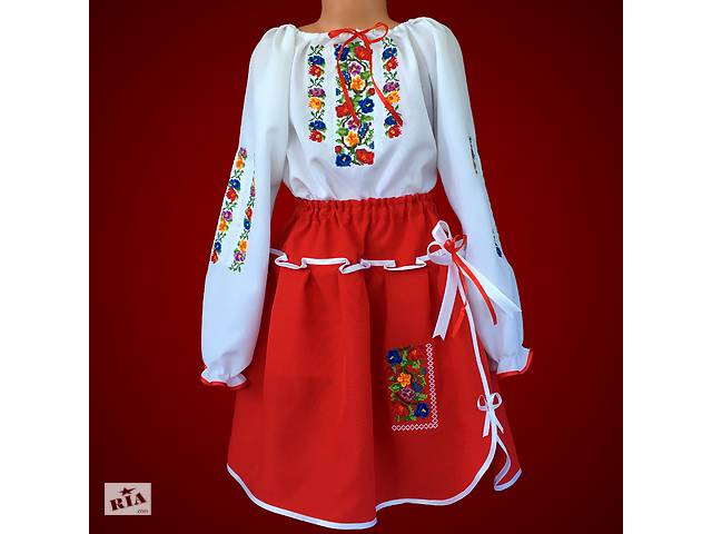 купить бу Вишитий костюм для дівчинки. Машинна вишивка. Вышитый костюм для  девочки. Машинная 73aade46b5ddb