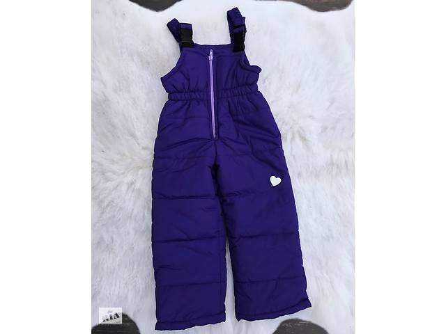 бу Зимние штанишки-полукомбинезон со светоотражательным рисунком Фиолетовые в Львове