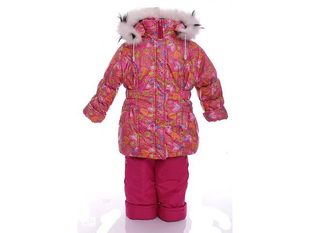 бу Зимний костюм для девочки Классика с рисунком розовый в сердечко в Одессе
