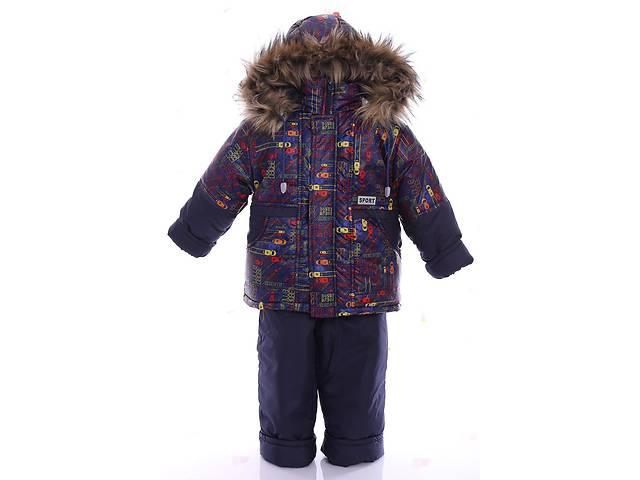 купить бу Зимний костюм для мальчика Классика с рисунком синие машинки в Одессе