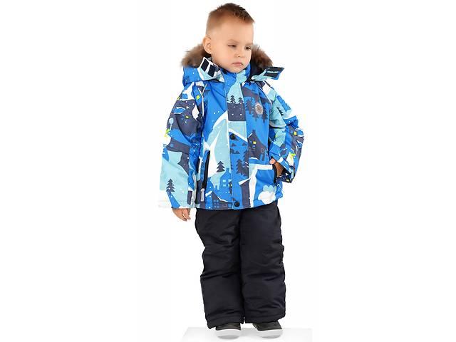 Зимний термо костюм на мальчика Куртка комбинезон 3-4 года Сноубордист