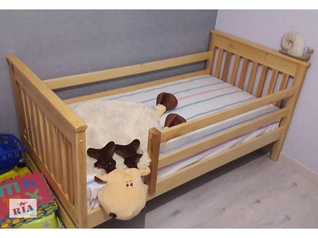 бу Дитяче дерев'яне ліжко Адель з бортиками і ящиками в Василькові
