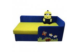 Дитячий диванчик ліжечко Смішарик Ribeka Кевін 14M90-Р (правий) Синій/жовтий