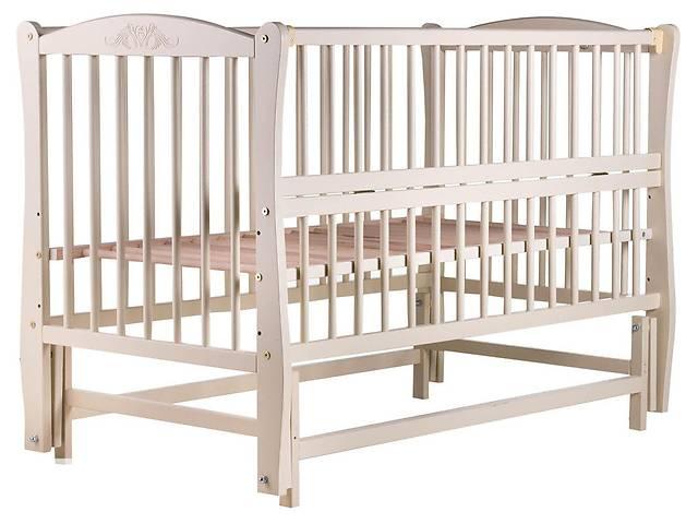бу Кровать Babyroom Еліт резьба, маятник, откидной бок DER-6 бук слоновая кость в Бердянске