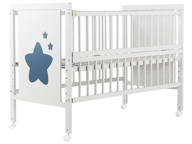 Кровать Babyroom Звездочка Z-01 откидной бок, колеса  бук белый- объявление о продаже  в Одесі