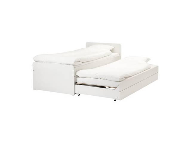 купить бу Кровать IKEA SLÄKT 90x200 см Белая (892.277.31) в Киеве