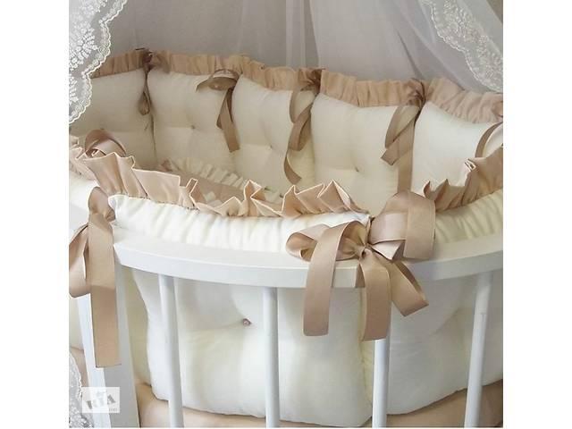 купить бу Постельный набор в кроватку \ овальная круглая кроватка \ каретная стяжка в Киеве
