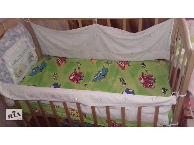 продам Продам детскую кроватку+матрас+защита+постелька бу в Запорожье