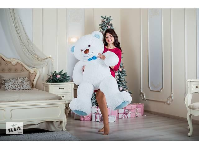 Большая мягкая игрушка плюшевый мягкий мишка Yarokuz Билли 150 см Белый