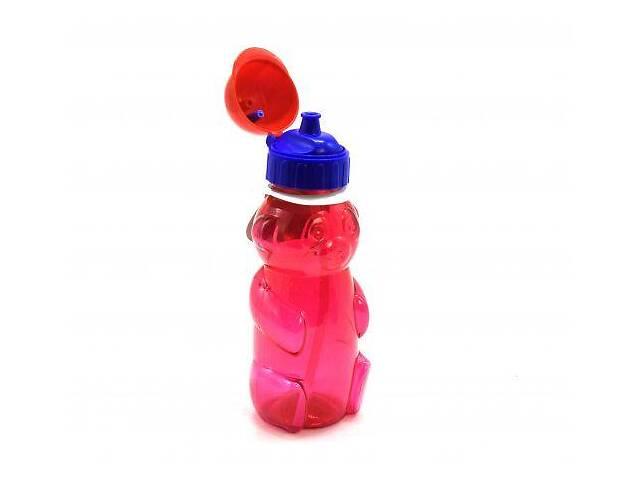 """Бутылочка для воды """"Мишка"""" с пипеткой, 500 мл (красная) 036- объявление о продаже  в Сумах"""