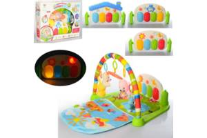 Детский коврик с пианино и подвесками, со звуковыми и световыми эффектами, 698-51-52-53