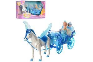 Карета для кукол 227A, с лошадью и куклой